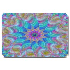 Fractal Curve Decor Twist Twirl Large Doormat