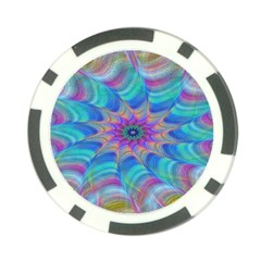 Fractal Curve Decor Twist Twirl Poker Chip Card Guard