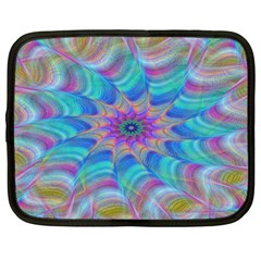 Fractal Curve Decor Twist Twirl Netbook Case (large)