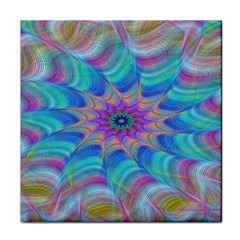Fractal Curve Decor Twist Twirl Face Towel