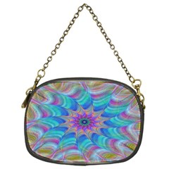 Fractal Curve Decor Twist Twirl Chain Purses (one Side)