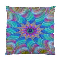 Fractal Curve Decor Twist Twirl Standard Cushion Case (two Sides)