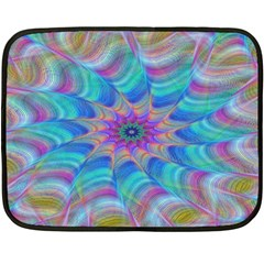 Fractal Curve Decor Twist Twirl Fleece Blanket (mini)