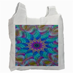 Fractal Curve Decor Twist Twirl Recycle Bag (two Side)