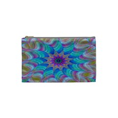 Fractal Curve Decor Twist Twirl Cosmetic Bag (small)
