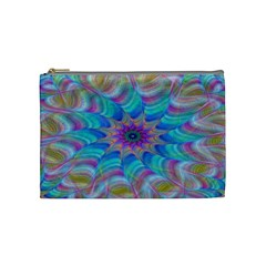 Fractal Curve Decor Twist Twirl Cosmetic Bag (medium)