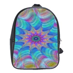 Fractal Curve Decor Twist Twirl School Bag (large)