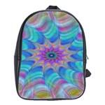 Fractal Curve Decor Twist Twirl School Bag (Large) Front