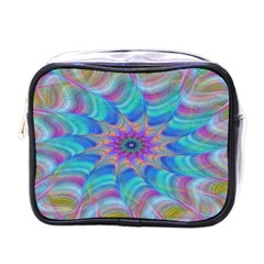 Fractal Curve Decor Twist Twirl Mini Toiletries Bags