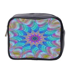 Fractal Curve Decor Twist Twirl Mini Toiletries Bag 2 Side