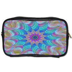 Fractal Curve Decor Twist Twirl Toiletries Bags 2 Side