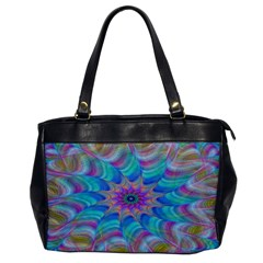 Fractal Curve Decor Twist Twirl Office Handbags