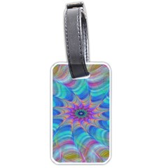 Fractal Curve Decor Twist Twirl Luggage Tags (one Side)