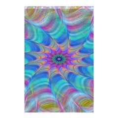 Fractal Curve Decor Twist Twirl Shower Curtain 48  X 72  (small)