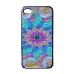 Fractal Curve Decor Twist Twirl Apple Iphone 4 Case (black)