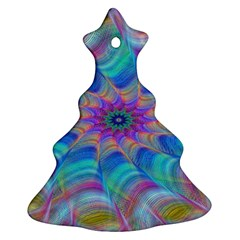 Fractal Curve Decor Twist Twirl Christmas Tree Ornament (two Sides)