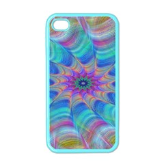 Fractal Curve Decor Twist Twirl Apple Iphone 4 Case (color)