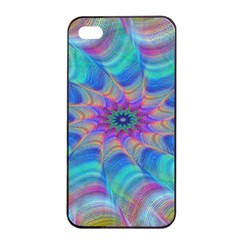 Fractal Curve Decor Twist Twirl Apple Iphone 4/4s Seamless Case (black)