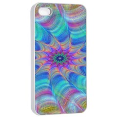Fractal Curve Decor Twist Twirl Apple Iphone 4/4s Seamless Case (white)