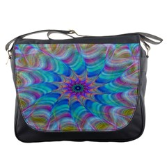 Fractal Curve Decor Twist Twirl Messenger Bags
