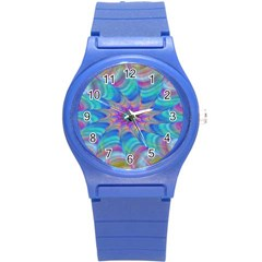 Fractal Curve Decor Twist Twirl Round Plastic Sport Watch (s)
