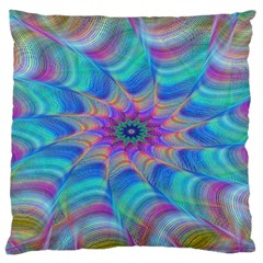Fractal Curve Decor Twist Twirl Large Cushion Case (one Side)