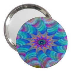 Fractal Curve Decor Twist Twirl 3  Handbag Mirrors