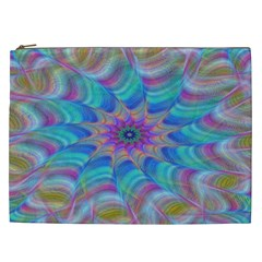 Fractal Curve Decor Twist Twirl Cosmetic Bag (xxl)