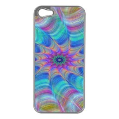 Fractal Curve Decor Twist Twirl Apple Iphone 5 Case (silver)