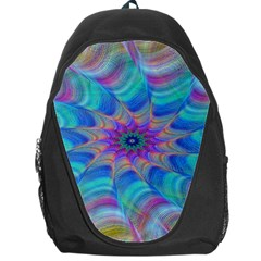 Fractal Curve Decor Twist Twirl Backpack Bag