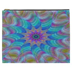 Fractal Curve Decor Twist Twirl Cosmetic Bag (xxxl)