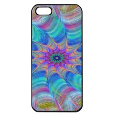 Fractal Curve Decor Twist Twirl Apple Iphone 5 Seamless Case (black)