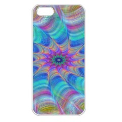 Fractal Curve Decor Twist Twirl Apple Iphone 5 Seamless Case (white)