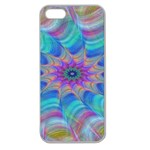 Fractal Curve Decor Twist Twirl Apple Seamless iPhone 5 Case (Clear) Front