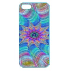 Fractal Curve Decor Twist Twirl Apple Seamless Iphone 5 Case (color)
