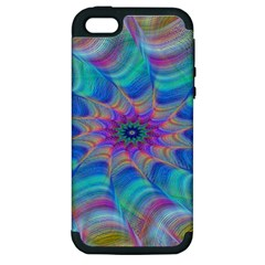 Fractal Curve Decor Twist Twirl Apple Iphone 5 Hardshell Case (pc+silicone)