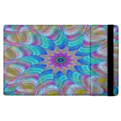 Fractal Curve Decor Twist Twirl Apple Ipad 3/4 Flip Case