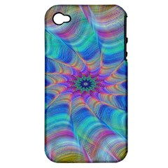 Fractal Curve Decor Twist Twirl Apple Iphone 4/4s Hardshell Case (pc+silicone)
