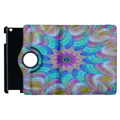 Fractal Curve Decor Twist Twirl Apple Ipad 2 Flip 360 Case