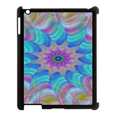 Fractal Curve Decor Twist Twirl Apple Ipad 3/4 Case (black)
