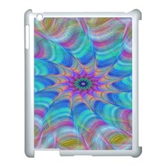 Fractal Curve Decor Twist Twirl Apple Ipad 3/4 Case (white)