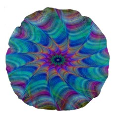 Fractal Curve Decor Twist Twirl Large 18  Premium Round Cushions
