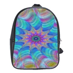 Fractal Curve Decor Twist Twirl School Bag (xl)