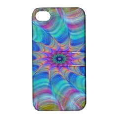 Fractal Curve Decor Twist Twirl Apple Iphone 4/4s Hardshell Case With Stand