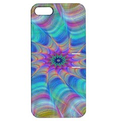 Fractal Curve Decor Twist Twirl Apple Iphone 5 Hardshell Case With Stand
