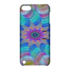 Fractal Curve Decor Twist Twirl Apple Ipod Touch 5 Hardshell Case With Stand