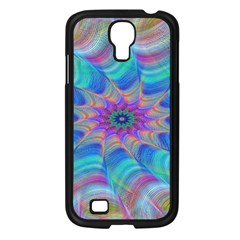 Fractal Curve Decor Twist Twirl Samsung Galaxy S4 I9500/ I9505 Case (black)