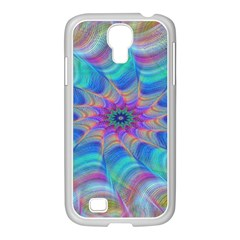 Fractal Curve Decor Twist Twirl Samsung Galaxy S4 I9500/ I9505 Case (white)