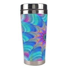 Fractal Curve Decor Twist Twirl Stainless Steel Travel Tumblers