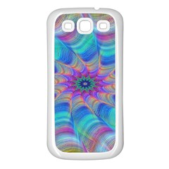 Fractal Curve Decor Twist Twirl Samsung Galaxy S3 Back Case (white)